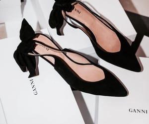 black, fashion, and heel image