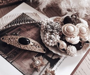 earrings, gold, and hair accessories image