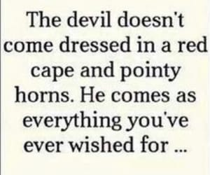Devil, quotes, and wish image