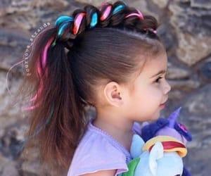 child, hair, and unicorn image