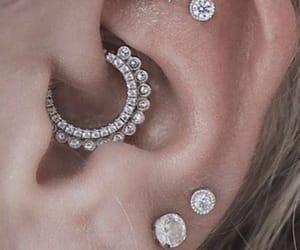 earings, Piercings, and earlobe image