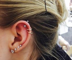 ear, earings, and earlobe image
