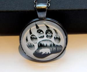 etsy, paw charms, and bear totem image