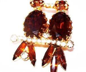 etsy, fall brooch, and vintage jewelry image