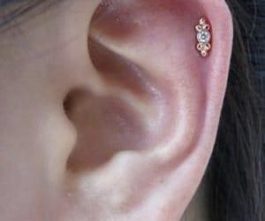 ear, earings, and helix image