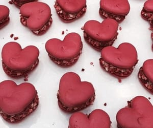 eating, hearts, and food image