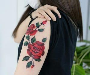 beautiful, body art, and flowers image