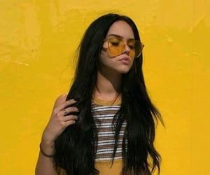yellow, girl, and tumblr image