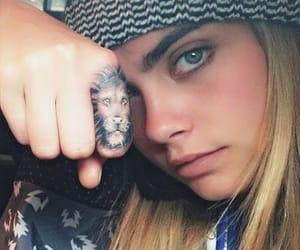 tattoo, cara delevingne, and model image