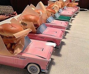 car, food, and pink image