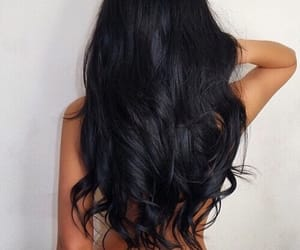 beauty, curls, and black image