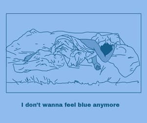 blue, sad, and quotes image