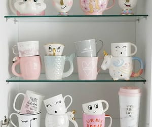 coffee, coffee cups, and tea cups image