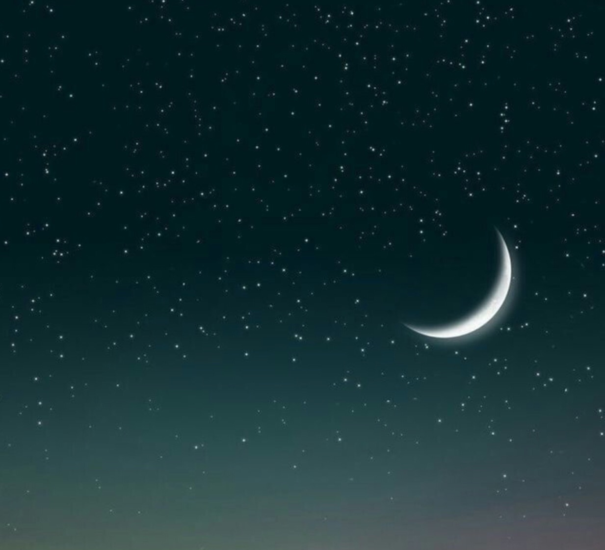moon, pretty, and sky image
