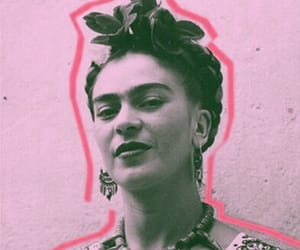 frida kahlo and pink image
