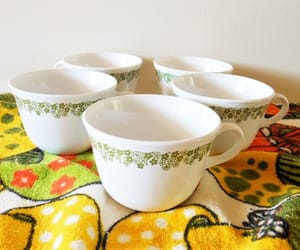 etsy, flowerpower, and corningware image