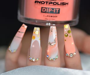 fluorescent, nails, and neon image
