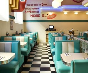 retro, vintage, and restaurant image