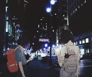 anime, night, and art image
