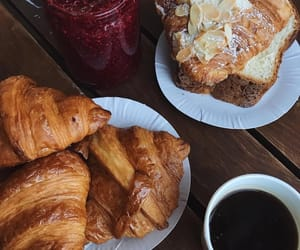 cake, chocolate, and croissants image