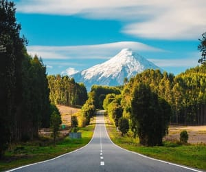 chile, highway, and mountain image