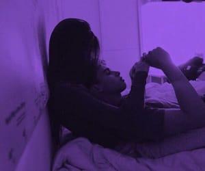 love, couple, and purple image