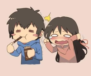 anime, couple, and pocky image