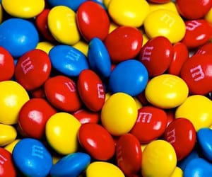 blue, red, and m&m's image