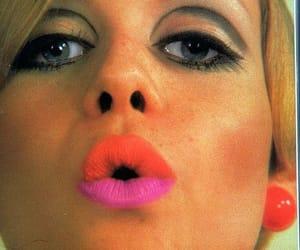 twiggy, 60s, and eyes image