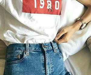 fashion, jeans, and 1980 image