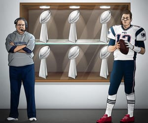 football, goat, and New England Patriots image