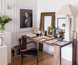 decor, desk, and house image