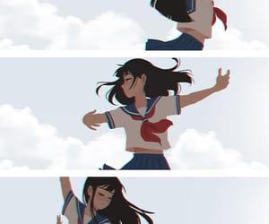 anime, cloud, and fan art image