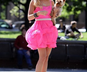 dress, pink, and ashley tisdale image