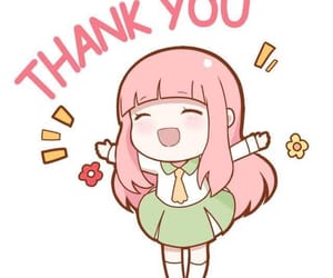 anime, followers, and thank you image