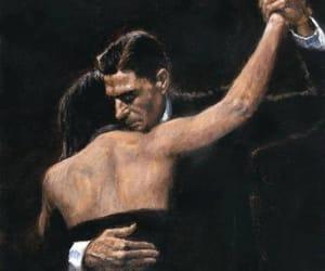 art, couple, and tango image