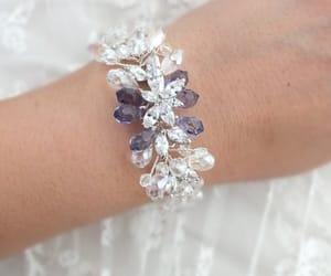 bridal jewelry, wedding bracelet, and zircon bracelet image