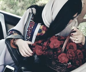 dp, flowers, and girls image