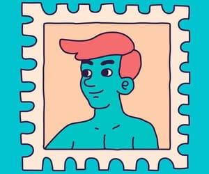 blue, digital art, and draw image