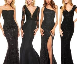 black, elegant, and models image