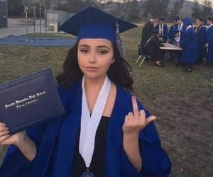 girl, funny, and graduation image