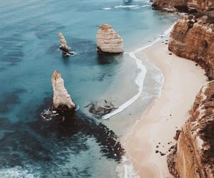 sea, travel, and beach image