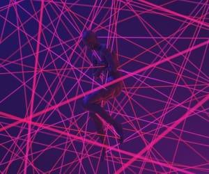 abstract art, art, and dark pink image