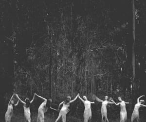 dance, witch, and black and white image