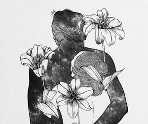 black, black and white, and draw image