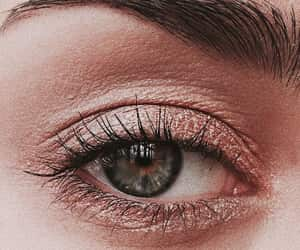 eye, girl, and makeup image