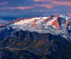 italy, colfosco, and marmolada glacier image
