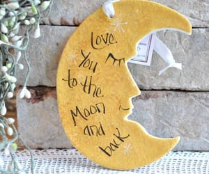 crescent moon, etsy, and baby gift image