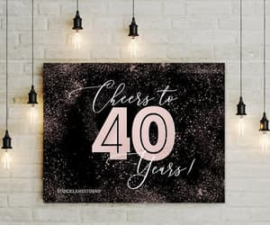 etsy, wedding anniversary, and 40th anniversary image