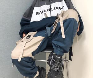aesthetic, Balenciaga, and blue image
